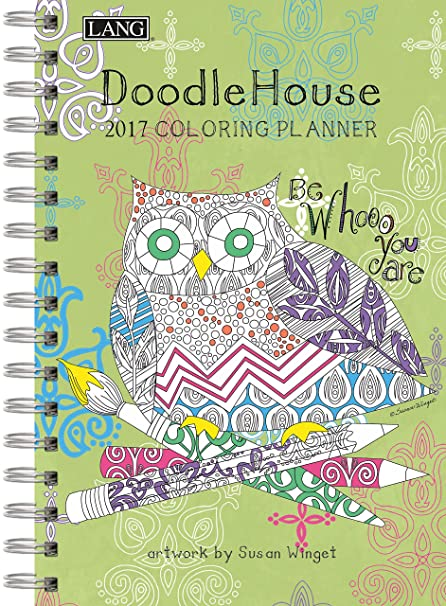 amazon com lang doodle house 2017 coloring engagement planner by