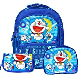 Gifts Online Combo of Boy's 18-inch Canvas School Bag, Sling Bag and Pencil Pouch(Blue)