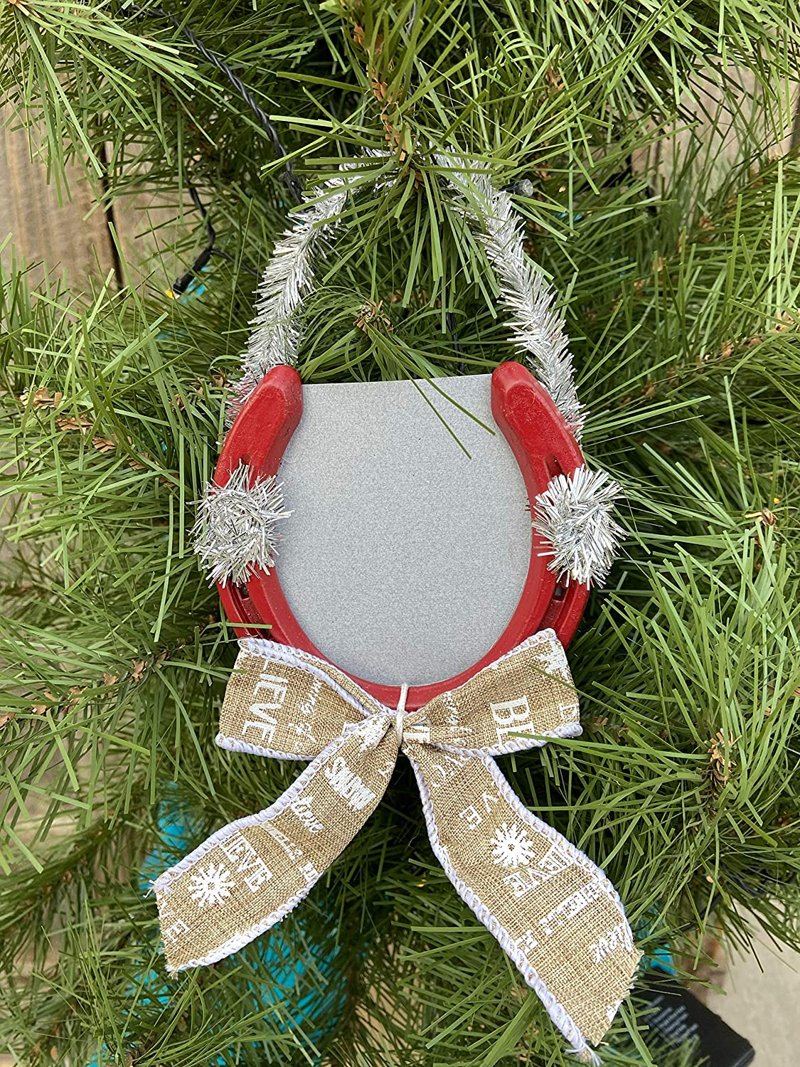 New Year good luck horse shoe ornament with 2019 year charm stoneware high fire \u03ba\u03b5\u03c1\u03b1\u03bc\u03b9\u03ba\u03cc \u03c0\u03ad\u03c4\u03b1\u03bb\u03bf \u03b3\u03bf\u03cd\u03c1\u03b9 2019 Horse shoe ceramic ornament