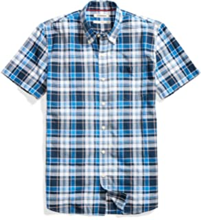 Goodthreads Men s Standard-fit Short-Sleeve Lightweight Madras Plaid Shirt 5077012583
