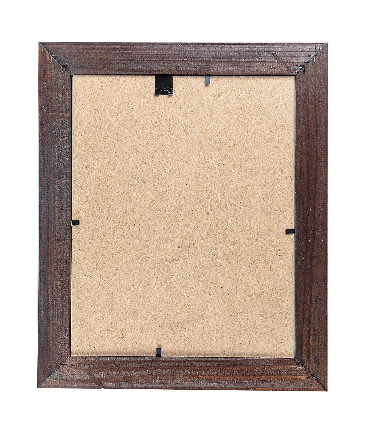 8x10 Wooden Picture Frames Brown Pack of Two 4x6 inch and one 8x10 Rustic Picture Frame Made of Solid Wood High Definition Glass for Table Top Display and Wall mounting Photo Frame Walnut