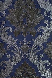 Barock tapete weiß silber  3D Barock Tapete EDEM 096-22 Tapete Damask prunkvolle Ornament ...