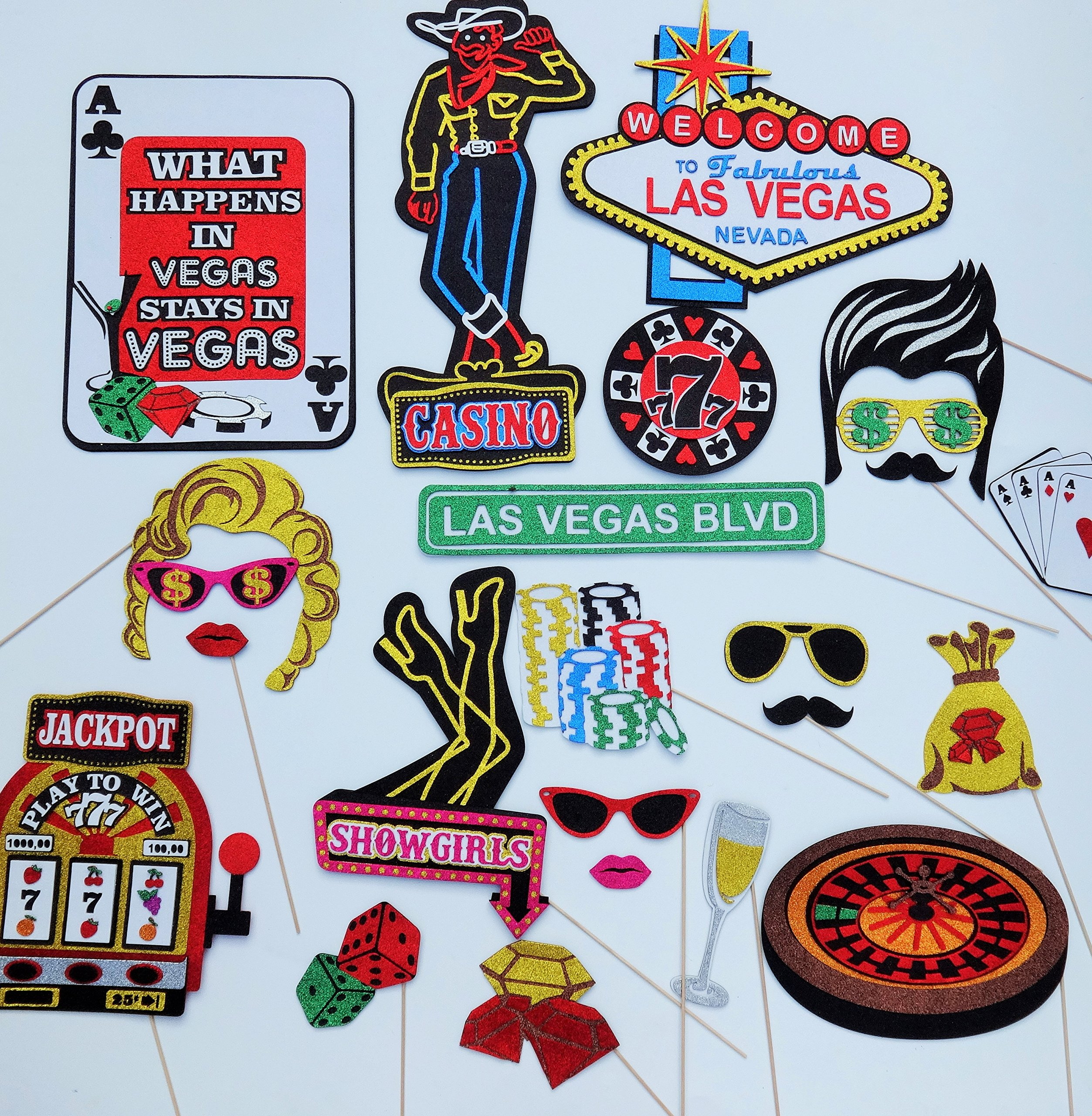 Vegas Photo Booth Props by picwrap