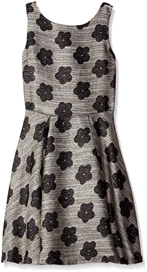 90f1efb6c4bba Amazon.com: Miss Behave Girls' Big Kendall Dress, Silver Medium ...