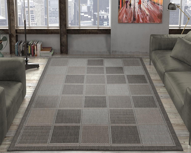 Ottomanson Jardin Indoor/Outdoor Area Rug, Gray, 5'3