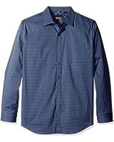 Van heusen men 39 s traveler stretch non iron long sleeve for Van heusen non iron shirts