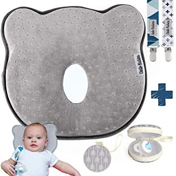Amazon Com Baby Pillow For Newborn Prevent Flat Head Shaping Pillow By Dodo Babies 3d Memory Foam Head Neck Pillow 2 Pacifier Clips Pacifier Case Excellent Baby Shower Registry Gift Baby