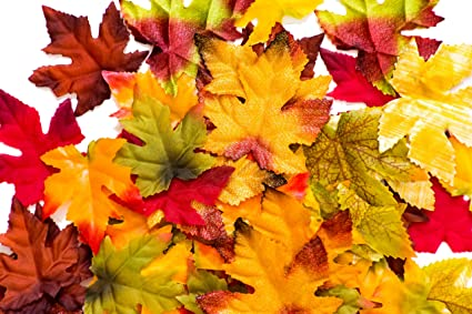 amazon com 150 artificial fall leaves in a variety of autumn colors