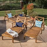 Amazon.com : Great Deal Furniture Daisy Outdoor Teak Finish ...
