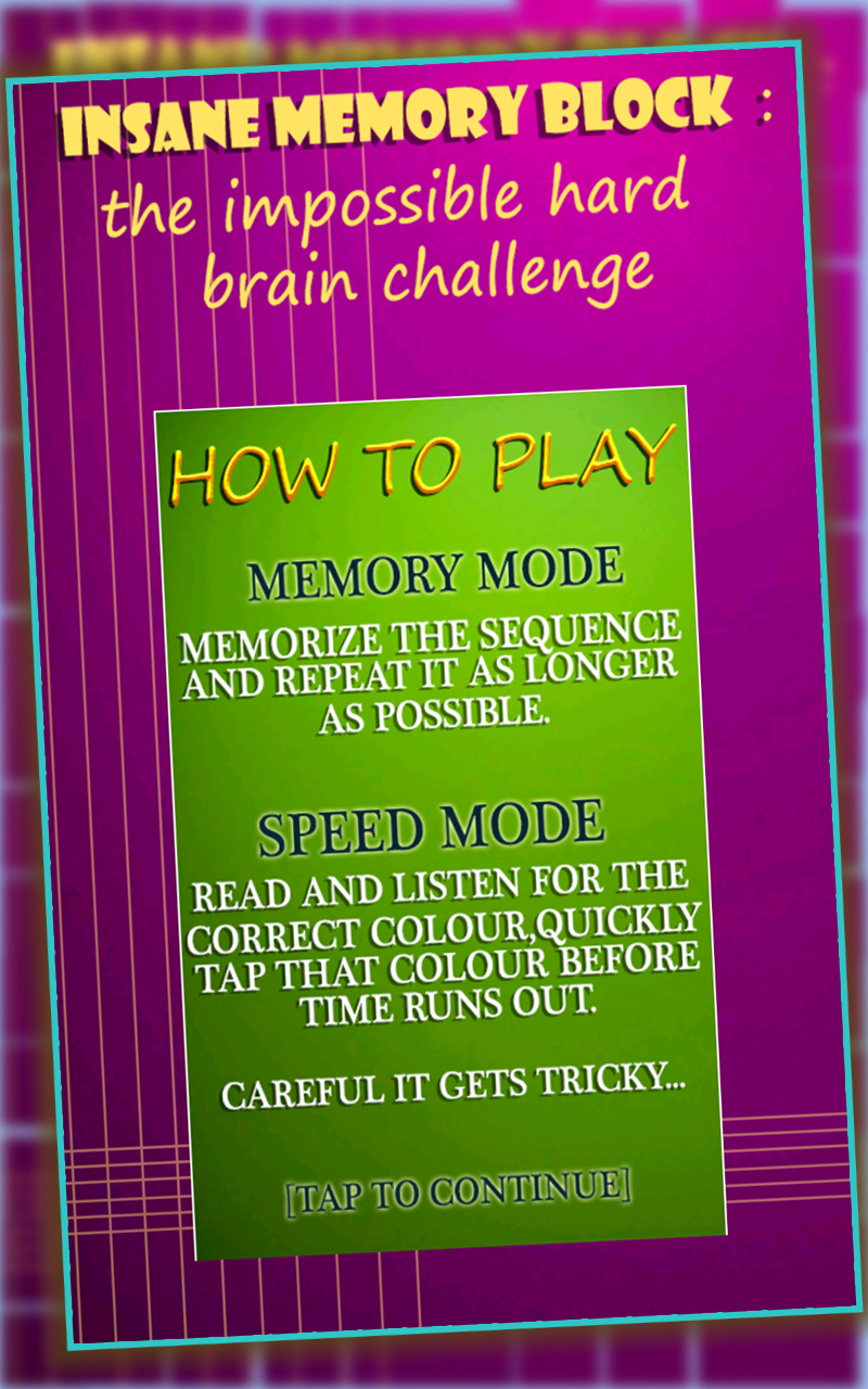 Amazon.com: Insane Memory Block : The Impossible Hard ...