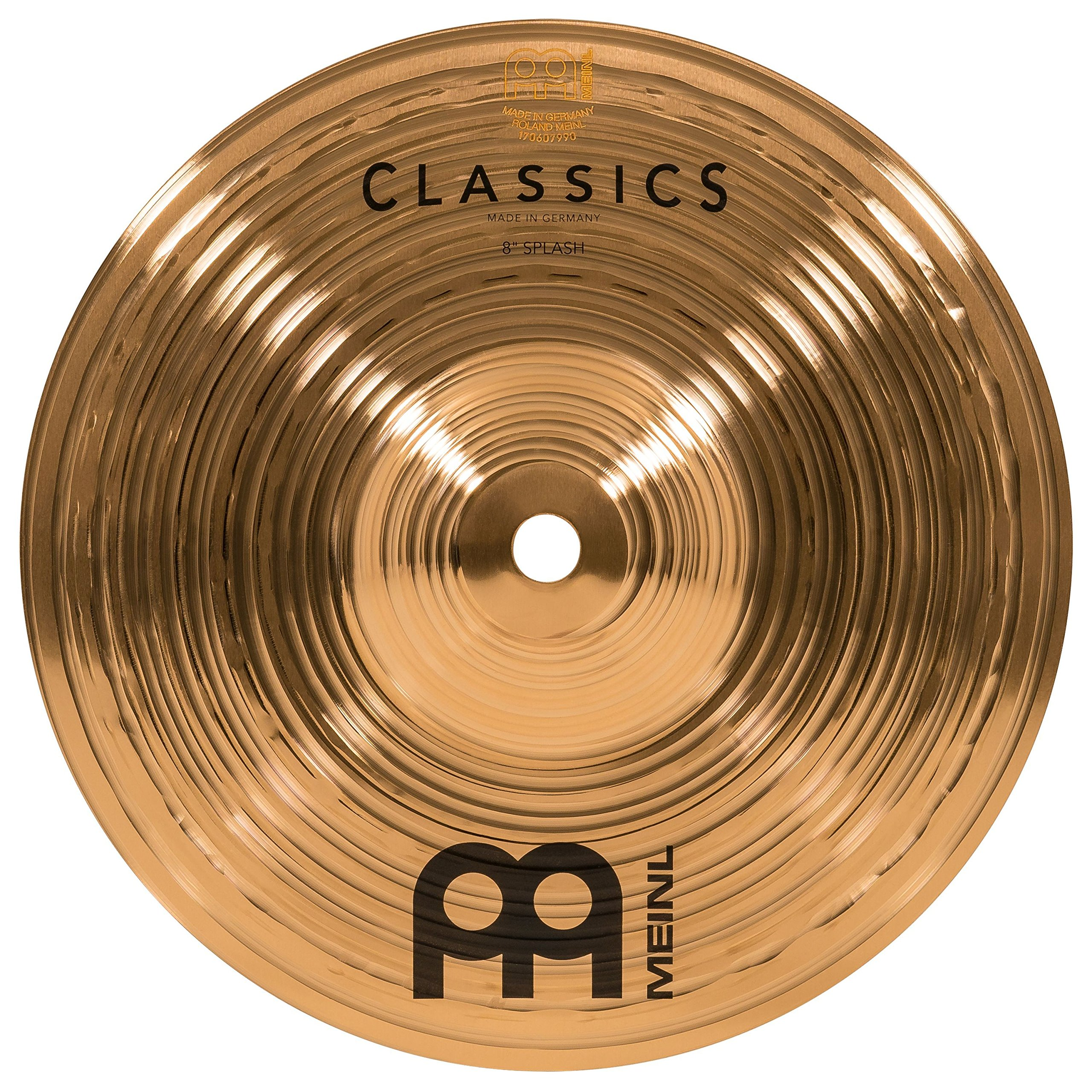 Meinl 8'' Splash Cymbal - Classics Traditional - Made in Germany, 2-YEAR WARRANTY (C8S)