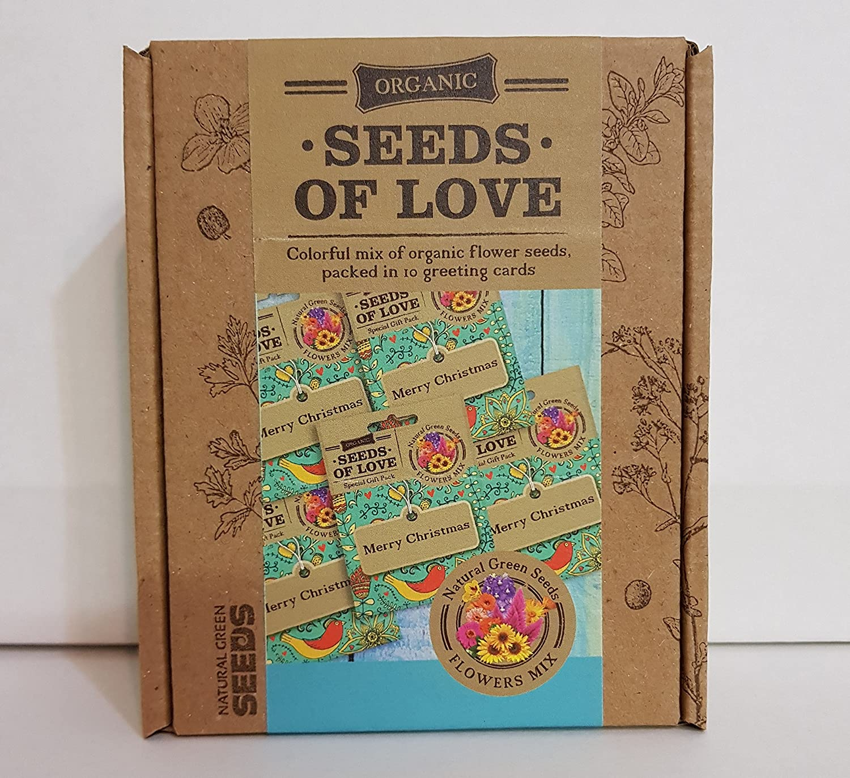 Amazon.com : Christmas Greeting Cards 10 SEED PACKS, Contain organic ...