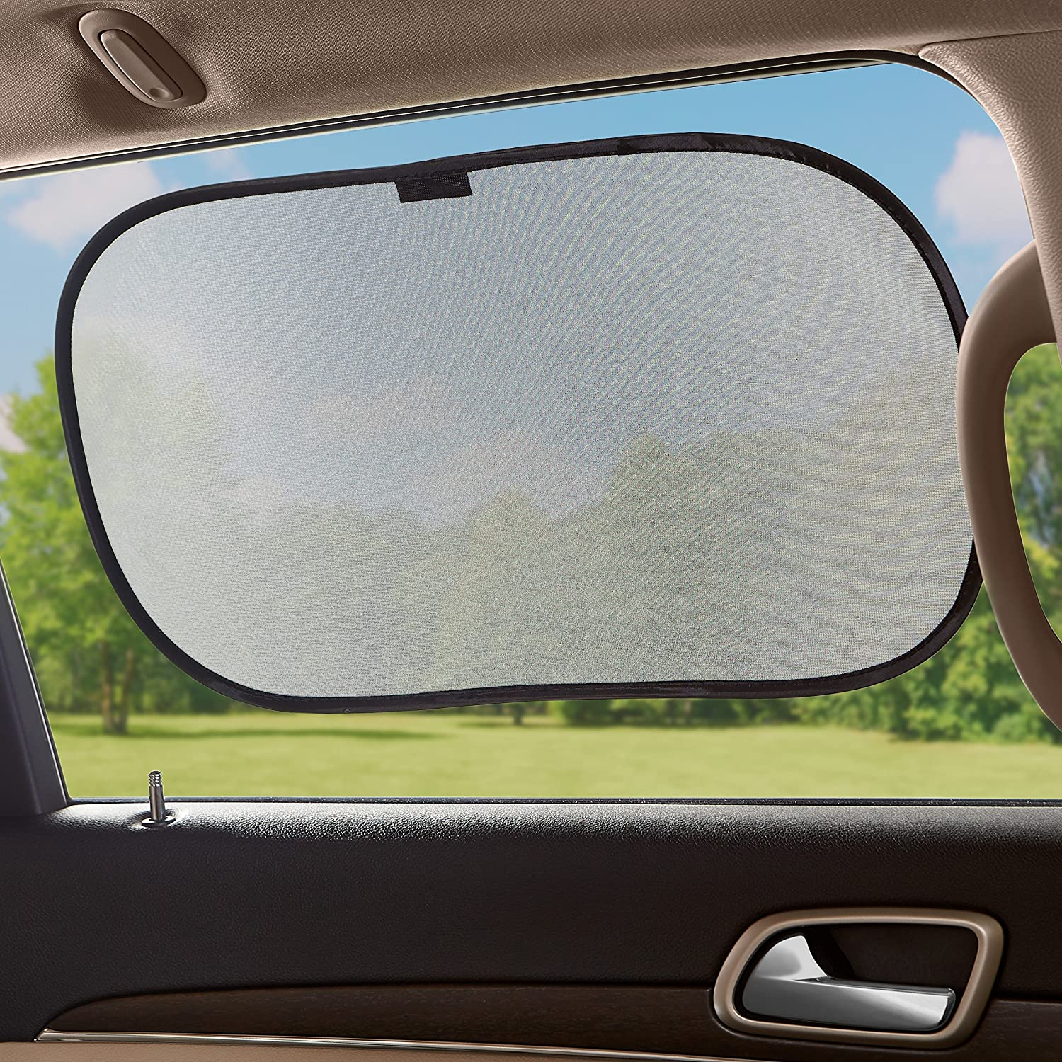 3-Piece Set Basics Car Window Stick-On Sun Shade for Rear and Side Windows