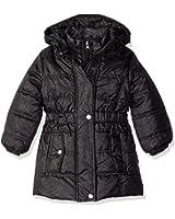 Pink Platinum Girls' Spray Foil Long Puffer Jacket