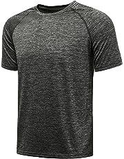 042cd14f KomPrexx Sport T Shirts for Men - QUICK DRY WICKING - Running Tops Training  Tee Short