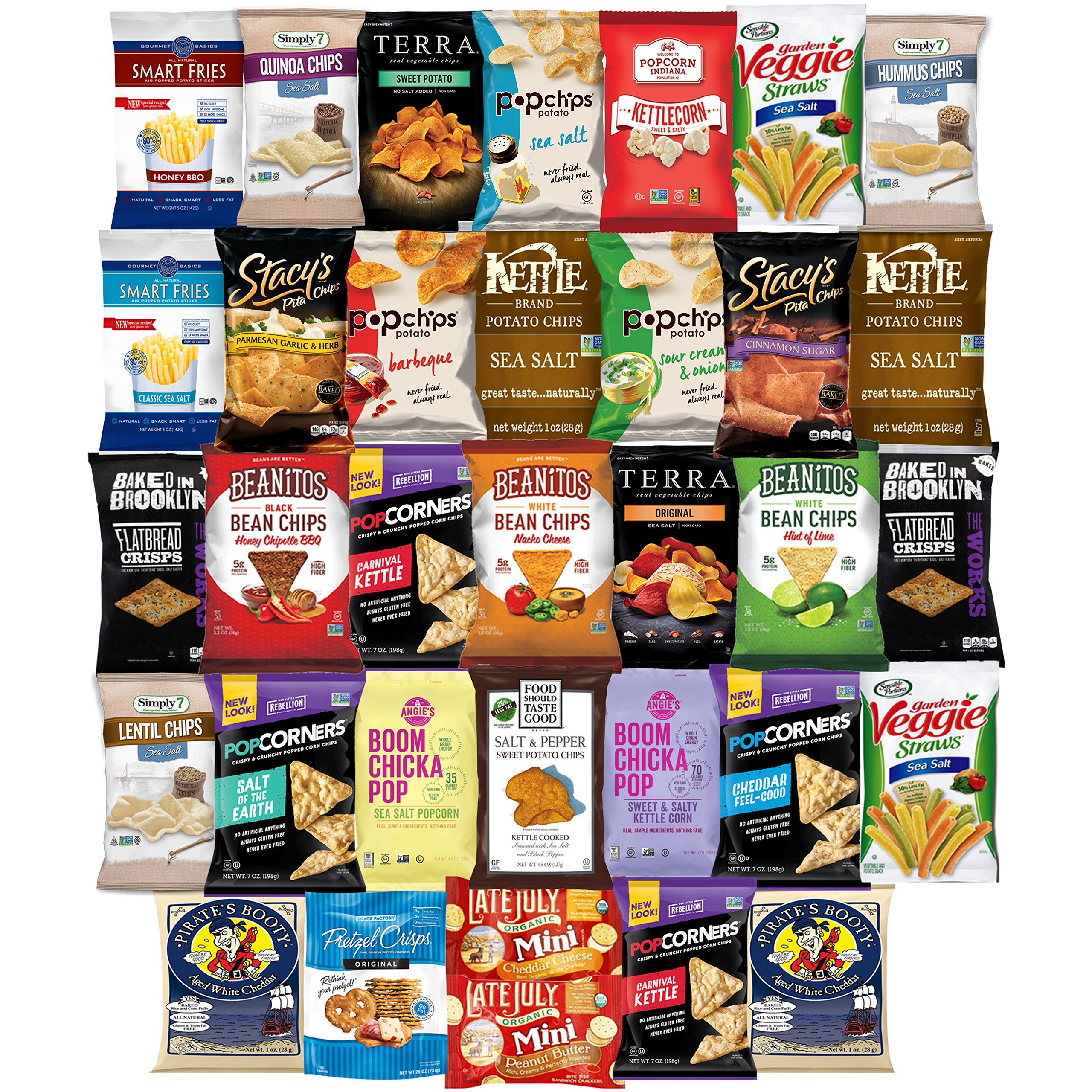 Ultimate Premium Healthy Chips & Snacks Care Package Variety Pack (35 Count) by Variety Fun by Custom Varietea