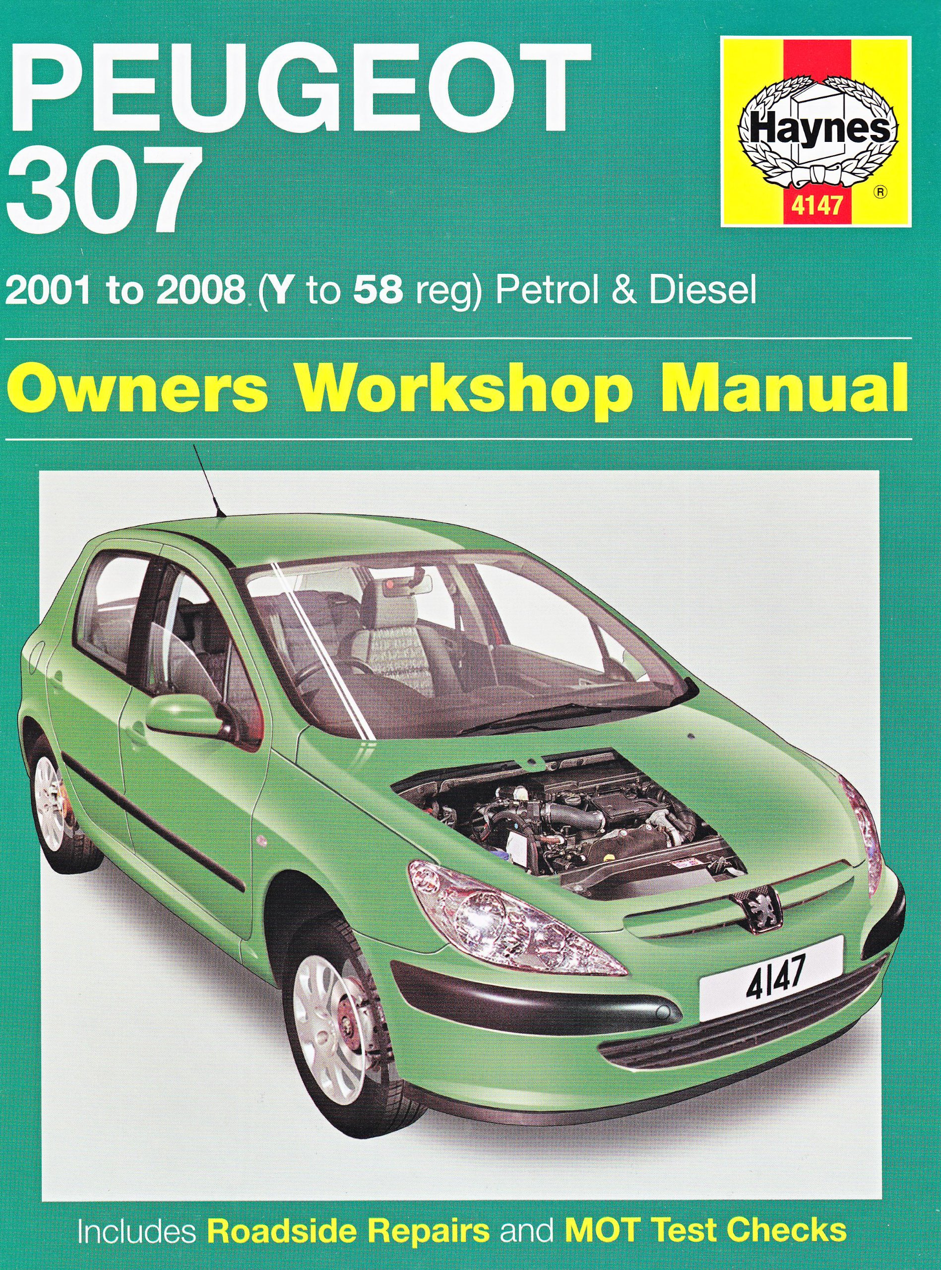 Peugeot 307 Petrol and Diesel Owners Workshop Manual: 2001 to 2008 (Haynes  Service and Repair Manuals): Amazon.co.uk: Martynn Randall: 9781844258000:  Books