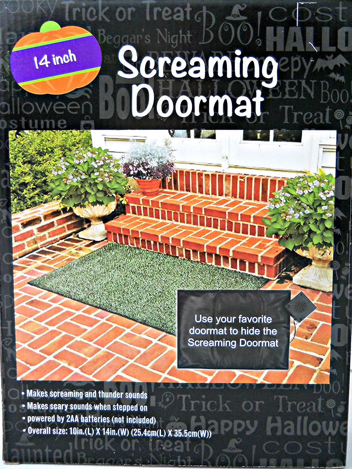 Screaming Halloween Doormat 14inch  eBay ~ 010317_Halloween Doormat With Sound