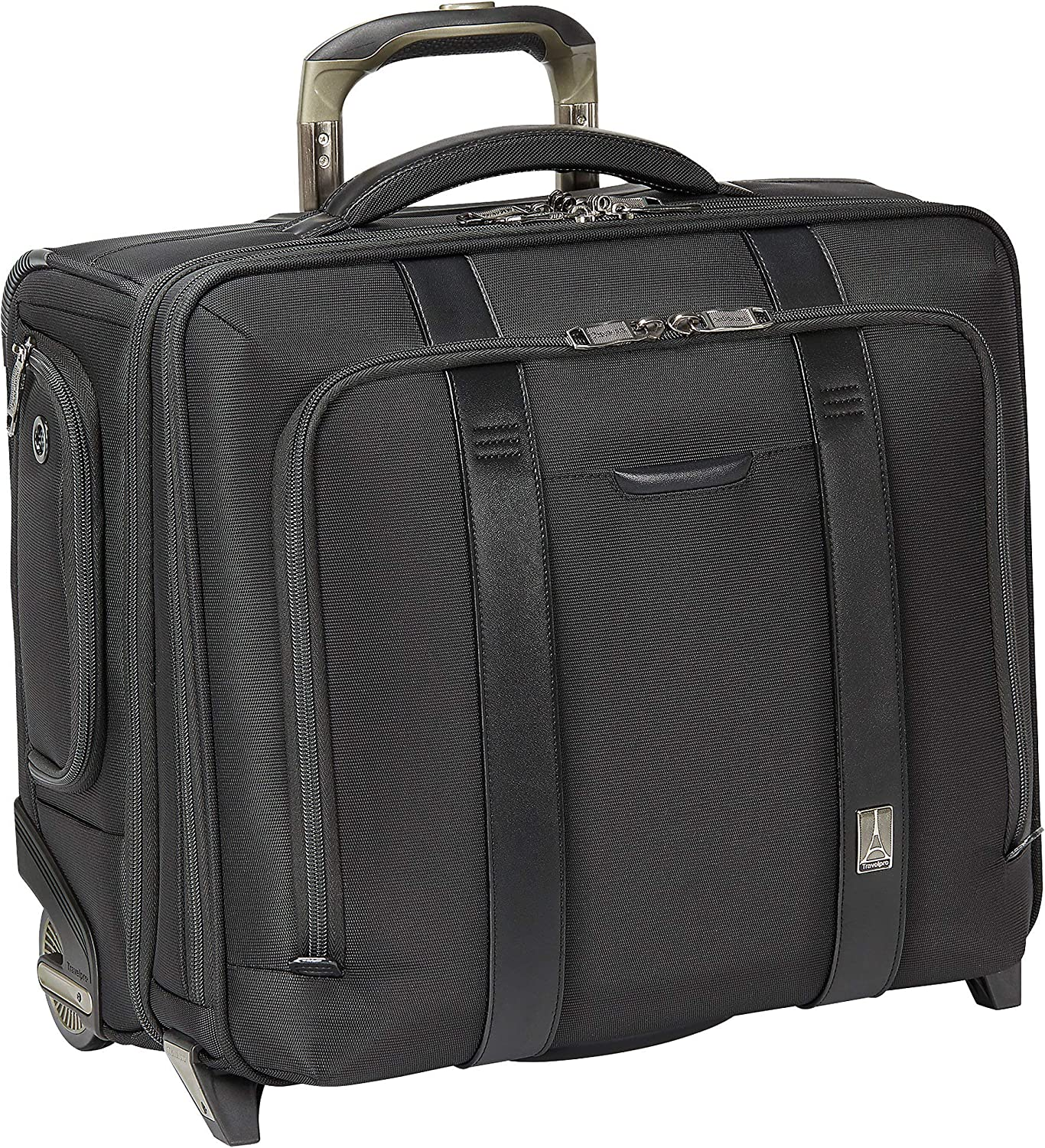 Travelpro Crew Executive Choice 2-Wheeled Brief Bag with USB Port, Black, 17-Inch