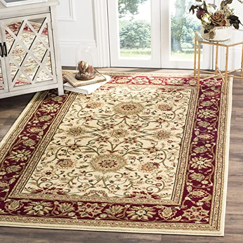 Safavieh Lyndhurst Collection LNH212K Traditional Oriental Ivory and Red Area Rug 6 x 9