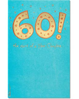 American Greetings 60th Birthday Card With Foil