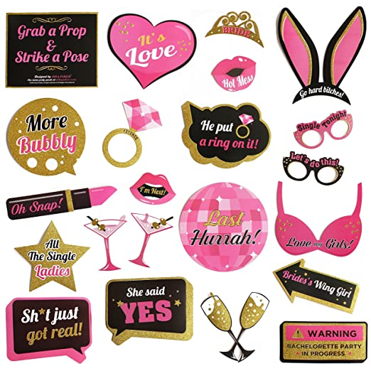 Amazon Bachelorette Party Photo Booth Props Kit