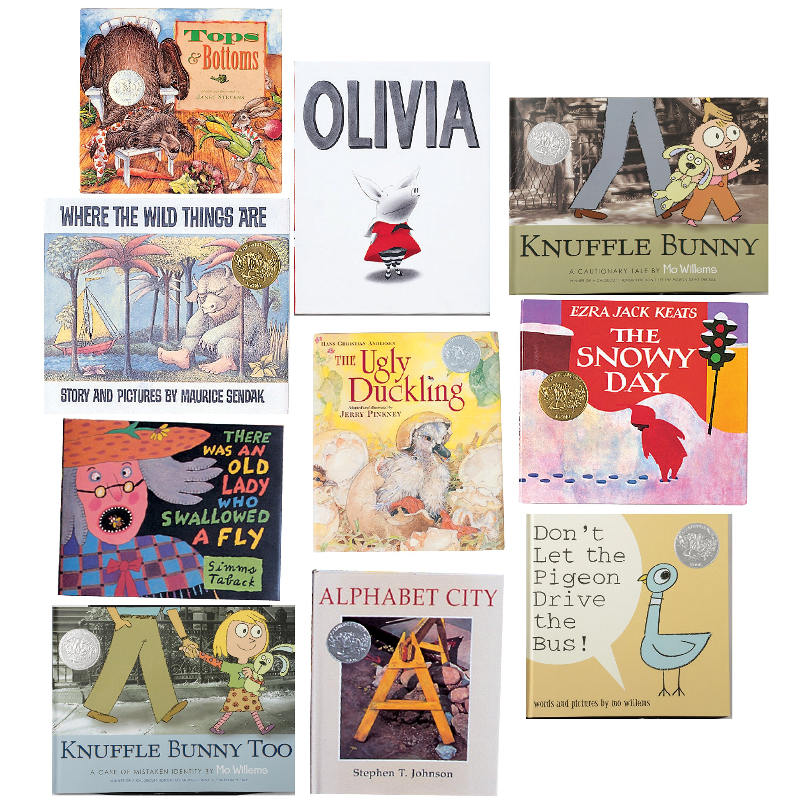 Constructive Playthings BOK-11 Caldecott Medal Collection of 10 Hardcover Books, Grade: Kindergarten to 3