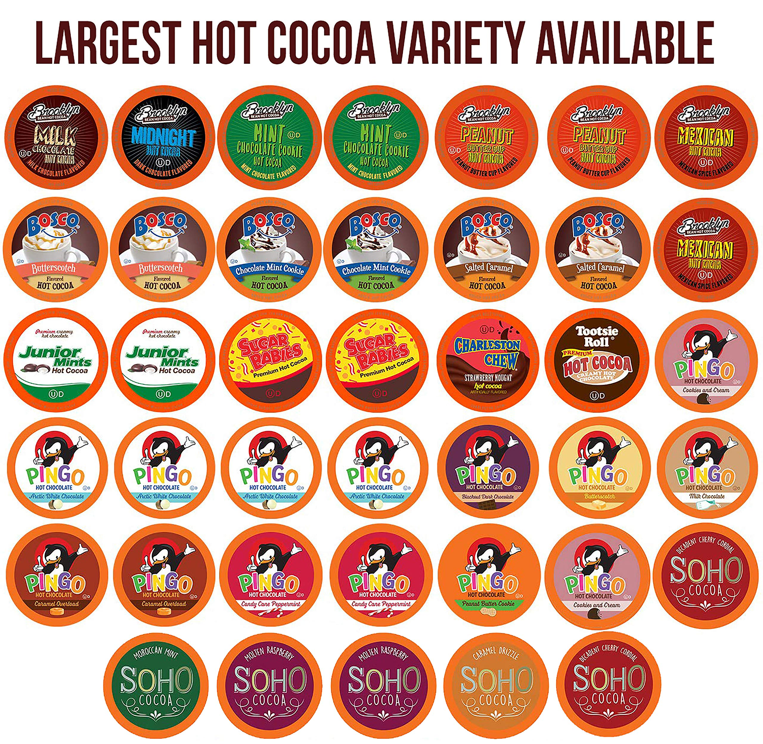 Two Rivers Chocolate Hot Cocoa Sampler Pack, Single-Cup for Keurig K-Cup Brewers, 40 Count by TWO RIVERS