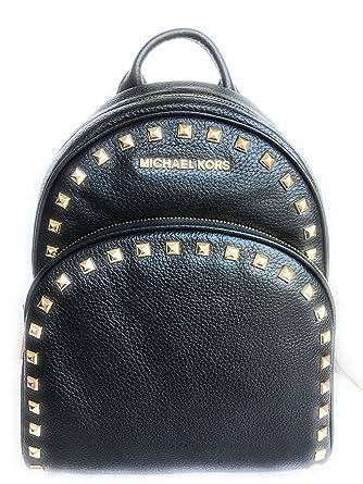 80dd340e1372 ... sweden michael michael kors abbey black medium frame out stud backpack  2a04e 4bb86