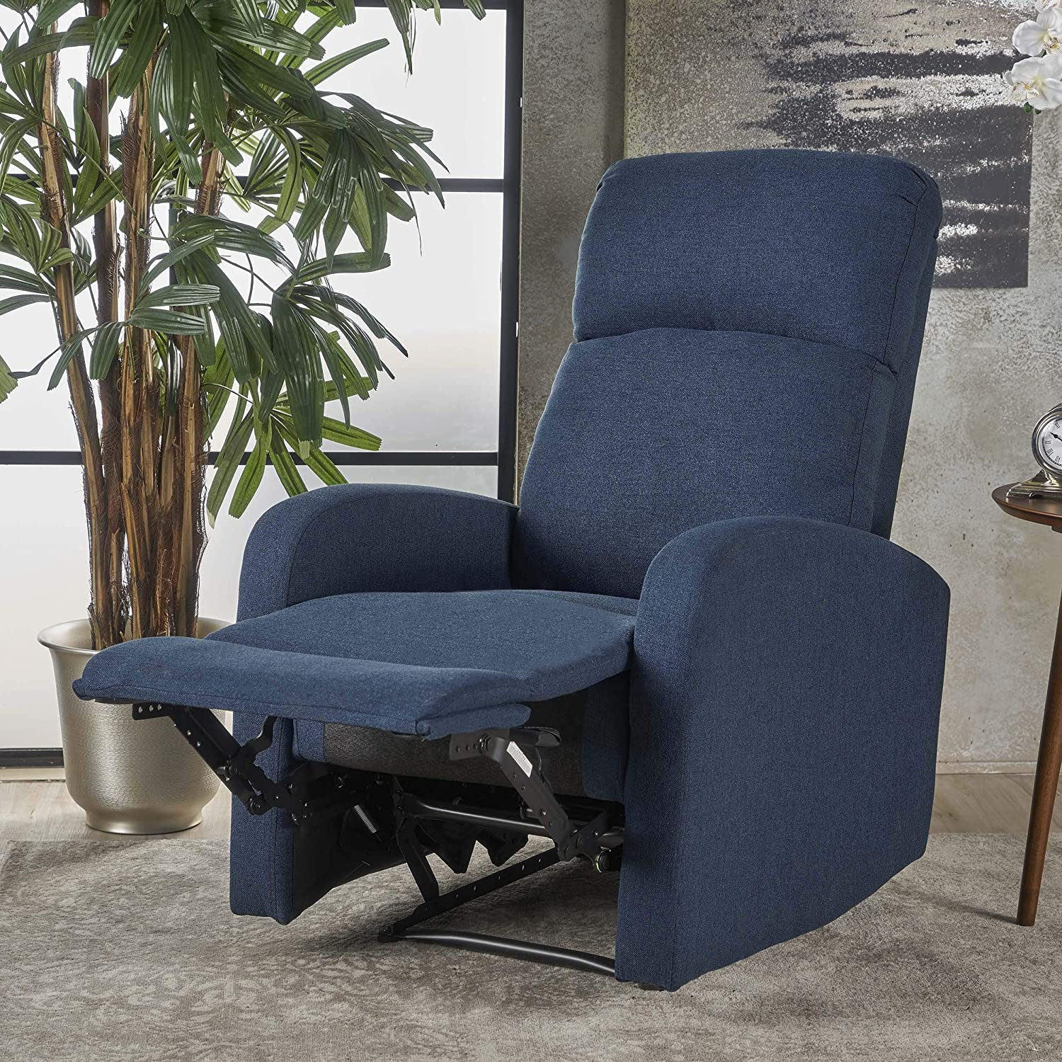Christopher Knight Home 301401 Giovanni Recliner, Navy Blue