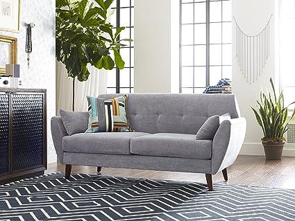 Fantastic Elle Decor 61 Mid Century Modern Amelie Loveseat In Light Gray Cjindustries Chair Design For Home Cjindustriesco