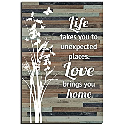 Amazon Life Love Wood Plaque Inspiring Quotes 6x9 Inch