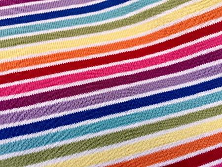 fe25adf3c56 Image Unavailable. Image not available for. Colour: MULTI STRIPE White  Rainbow Jersey Knit Elastane - 4 Way Stretch Rib ...