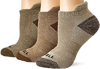 Merrell Women's 3 Pack Cushioned Performance Hiker Socks (Low Cut/Quarter/Crew), Charcoal