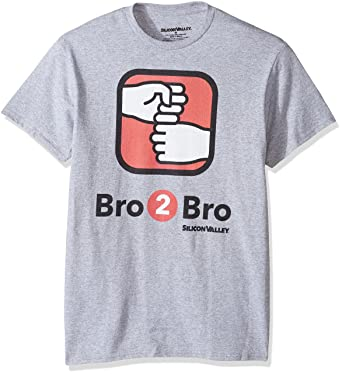 f94cd8412 Silicon Valley Men's Bro2bro App Graphic T-Shirt, Athletic Heather, Small