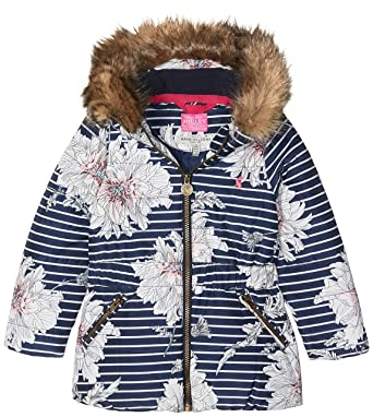 5c307f22c534 Amazon.com  Joules Girls  Belmont Print Waisted Puffer Coat  Clothing