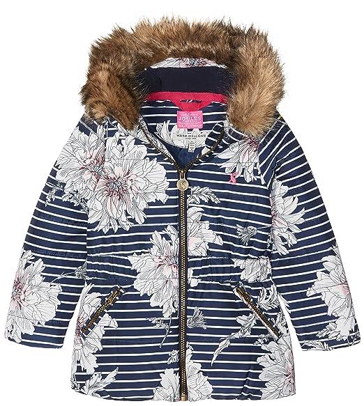 6393e3ea9 Joules Girl s Belmont Print Coat  Amazon.co.uk  Clothing