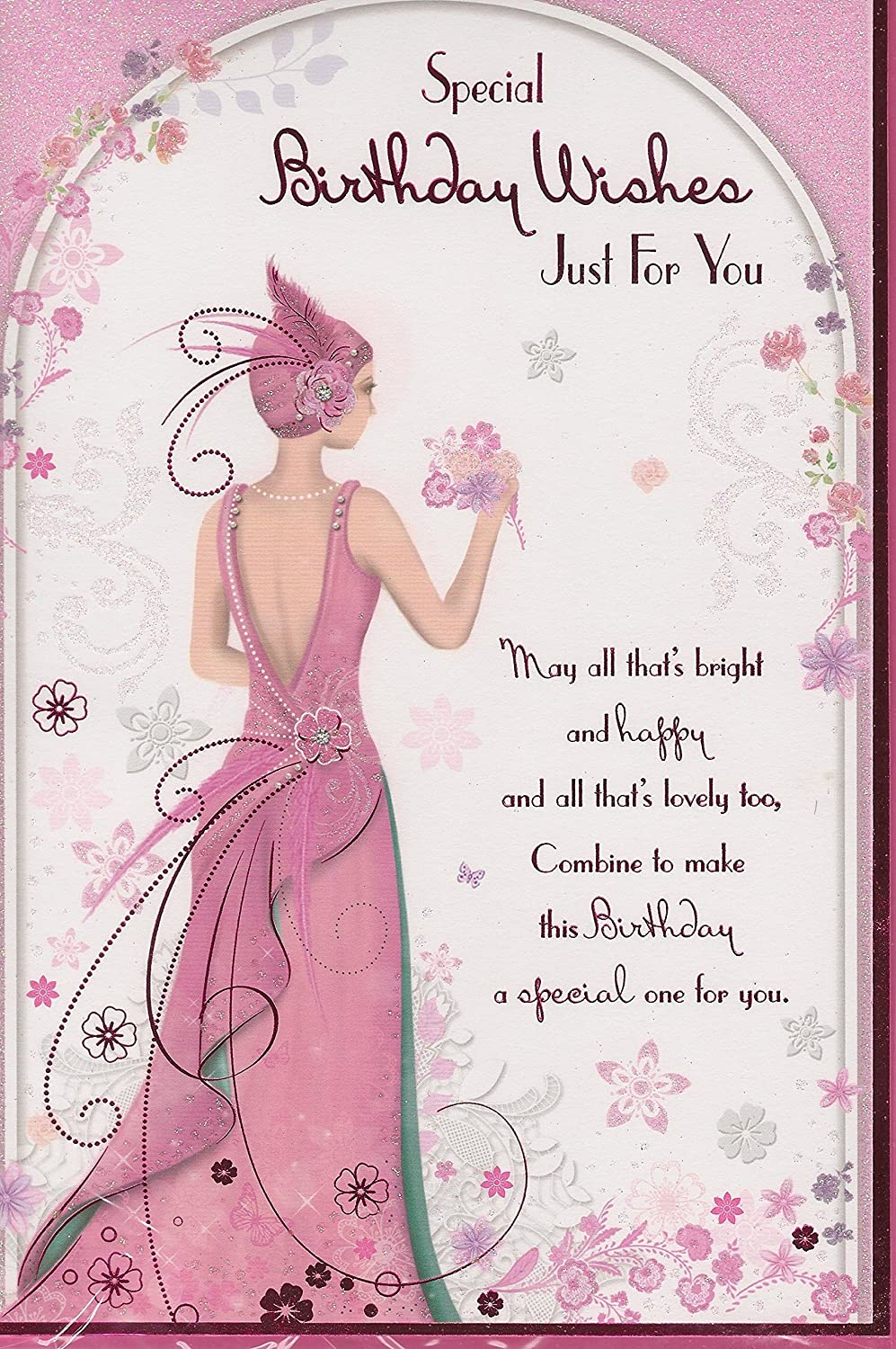Female Birthday Card Special Birthday Wishes Just For You