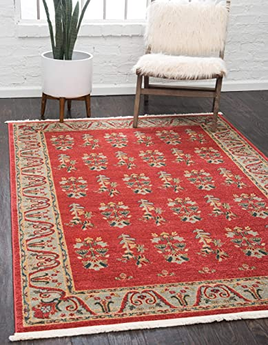 Unique Loom Fars Collection Tribal Modern Casual Red Area Rug 10 6 x 16 5