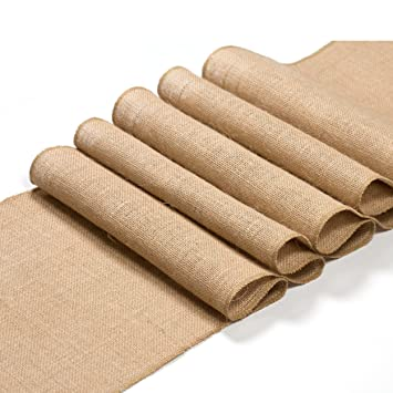 Burlap Table Runner Roll 12 By 108 Inch Xmas Natural Decor   No Fray