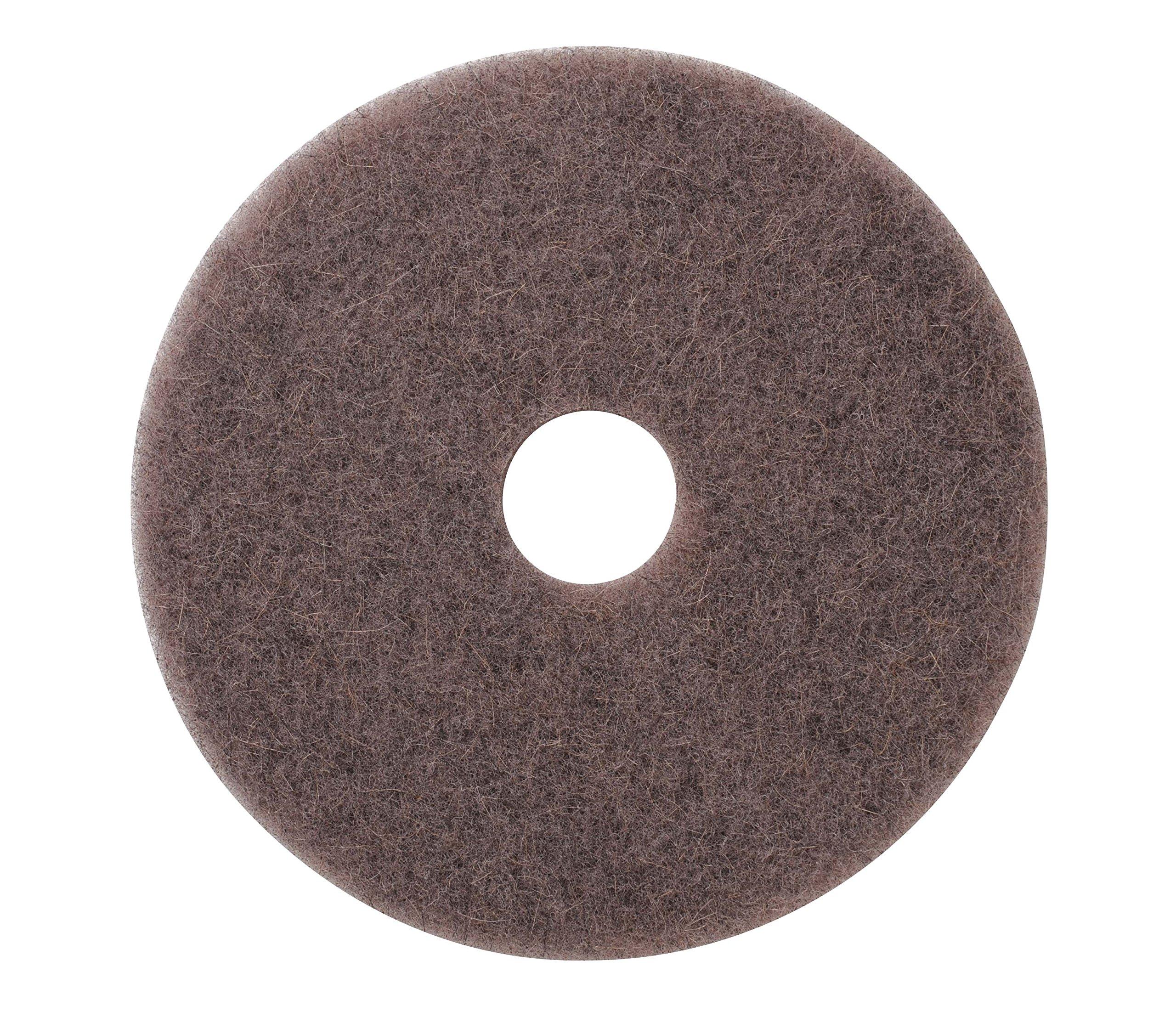 Americo Manufacturing 401721 Porko Natural Ultra High Speed Natural Fiber Burnishing Floor Pad (5 Pack), 21''
