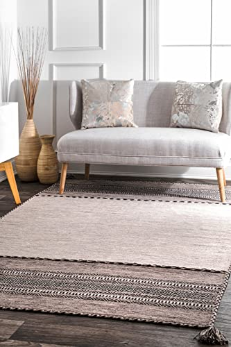 Safavieh Hudson Shag Collection SGH329B Grey and Ivory Area Rug 3 x 5