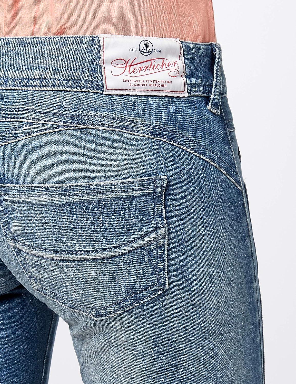 Herrlicher Damen Gila Slim Jeans Blau (Polo Blue 648)