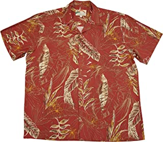product image for Paradise Found Mens Heliconia Sketch Shirt Rust S