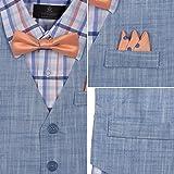 Vittorino Boy's Linen Look 4 Piece Suit Set with