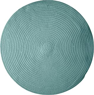 product image for Colonial Mills Bristol Polypropylene Braided Round Rug, 8-Feet, Teal