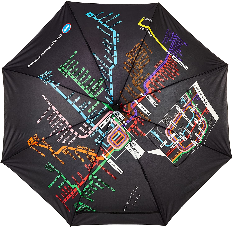 Auto Open Umbrella CTA Subway C.T.A