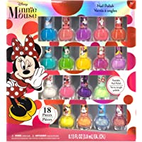 18 Pk Townley Girl Disney Minnie Mouse Peel-Off Nail Polish Set