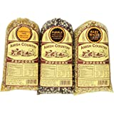 Amish Country Popcorn, Set of 6, 1-pound bags Non-GMO: (2) Baby White, (2) Purple, & (2) Ladyfinger (6 Pounds total)