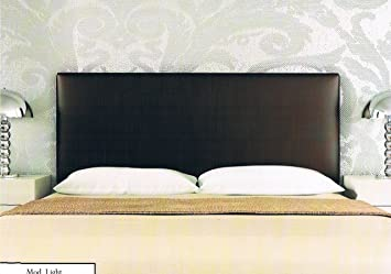 colchones y muebles baratos Cabecero tapizado Light de polipiel chocolate (180cm): Amazon.es: Hogar